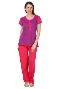 kiara,fasense,flora,pick pocket,avsar,gili,diya Pyjamas & lounge pants - Fasense Exclusive Women Cotton Nightwear Nightsuit Top & Pyjama Set,