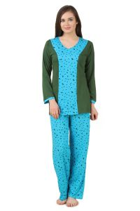 Fasense Women Cotton Nightwear Sleepwear Top & Pyjama Set, Dp172 B