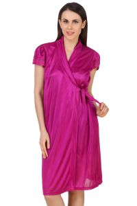 Pick Pocket,Gili,Valentine,See More,Fasense Women's Clothing - Fasense Women Satin Nightwear Sleepwear Short Wrap Gown DP183 C
