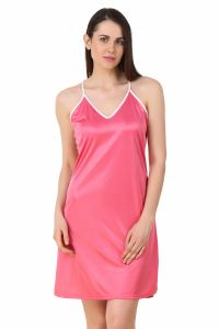 Fasense Women Satin Nightwear Sleepwear Short Nighty Dp195 B