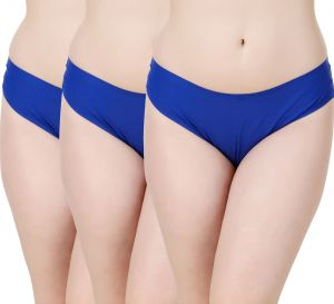 Kiara,Sukkhi,Jharjhar,Fasense,Kalazone,Avsar,Sleeping Story Women's Clothing - Fasense Women's Solid Royal Blue  Set of 3 Hipster Panties JYCOM15 D