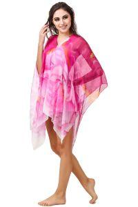 Fasense Floral Printed Wine Multi Beachwear Cover Up MM004 C