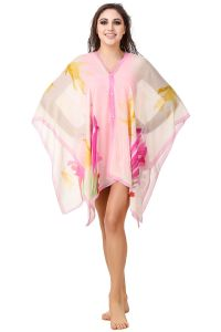 Fasense Floral Printed Multi Beachwear Cover Up MM005 D