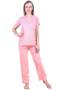 Night Suits - Fasense Women's Cotton Top & Pyjama SR025 A