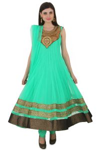 Fashion Chor Women's Clothing - Fasense Exclusive Ethnic Wear Net Readymade Long Anarkali Salwar Suit VG061 B