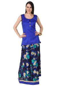 Fasense Chaniya, Ghagra Cholis - Fasense Women Ethinic Wear Readymade Top & Lehenga Set VG094 B