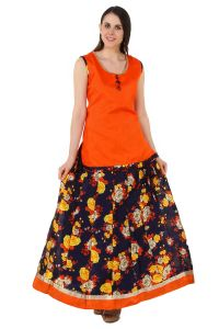 Fasense Chaniya, Ghagra Cholis - Fasense Women Ethinic Wear Readymade Top & Lehenga Set VG094 C