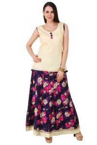 Fasense Chaniya, Ghagra Cholis - Fasense Women Ethinic Wear Readymade Top & Lehenga Set VG094 D