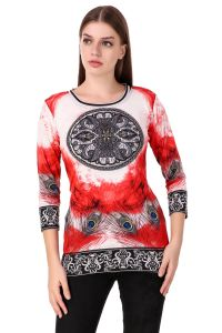 vipul,port,fasense,triveni,the jewelbox Sleep Wear For Women (Misc) - asense 3/4 Sleeve Multicolor Printed Top for Women YC001 C