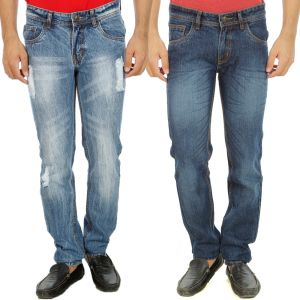 Stylox Mens Set Of 2 Regular Fit Denim - ( Product Code - Dn-6004-5-2dnm )