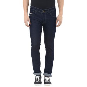 Stylox Mens Dark Blue Slim Fit Jeans (product Code - Dn-cb -s-4010)