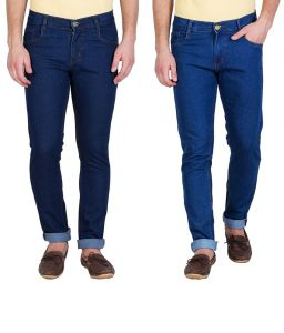 Stylox Pack Of 2 Jeans For Men (product Code - Dnm-1001-2-2dnm)