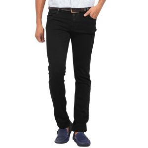 Stylox Black Slim Solid Mens Jeans (product Code - Dnm-blk-s-1003)