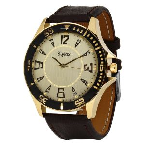 "Stylox Stylish White Dial Men""s Watch"