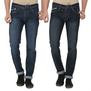 Jeans (Men's) - Stylox Pack Of 2 Stylish Multicolor Jeans For Men (Product Code - DN-2CMBO-4014-15)