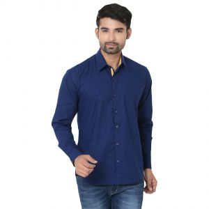 Stylox Stylish Blue Slim Fit Formal Shirt (product Code - Sht-blue-p-041)
