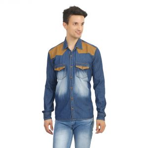 Stylox Mens Medium Blue Denim Shirt - ( Product Code - Sht-mb-dnm-212 )