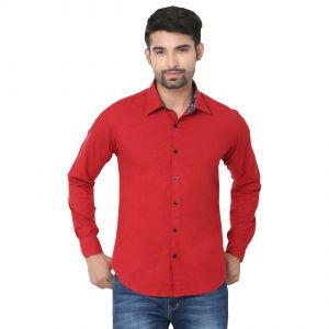 Stylox Stylish Maroon Slim Fit Formal Shirt (product Code - Sht-mrn-p-042)
