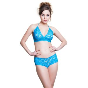 Cloe Lace Bra & Panty Set In Turquoise Bp0230p47