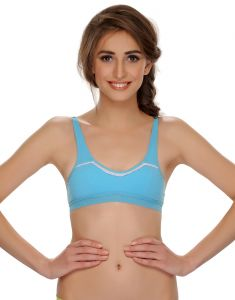 Clovia Cotton Blend Cotton Blended Comfy Teenage Bra (product Code - Br0370p03 )