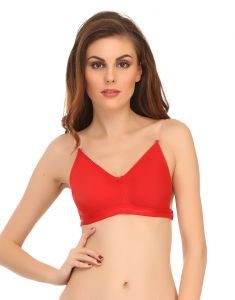Clovia Cotton Blended Backless Multiway Cotton Bra In Red (product Code - Br0376p04 )