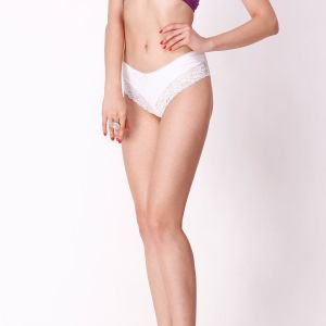 Cloe Set Of 2- Cotton Briefs In White And Black Pn0168r69