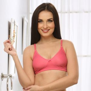 Clovia Soft Cup T-shirt Bra In Reddish Pink Br0184q23