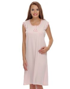 Clovia Women's Clothing - Clovia Pink Cute Short Nighty  NS0394P22_Free Size