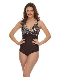 Clovia Swim Wear (Women's) - Clovia Polyamide Sexy V-Shape Swimsuit (Product Code - Sm0008P06 )