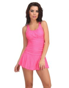 Clovia Polyamide Padded Monokini Cross Back Swimsuit In Hot Pink  -(Product Code- SM0031P14)