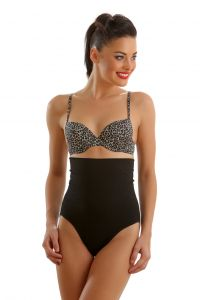 Clovia High Waist Tummy Control Panty In Black Code - (sw0006j13)