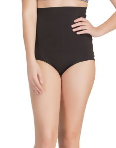 Clovia Personal Care & Beauty - Clovia Seamless Tummy Tucker In Skin With Stitch Free Belt & Lacy Back  -(Product Code- SW0018P13)