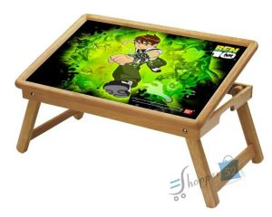 Ben 10 Multipurpose Foldable Wooden Study Table For Kids - Study 1014