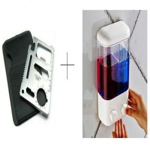 Buy Double Soap Dispenser With Free 11 In 1 Stainless Steel Survival Toolkit - 11insdispl