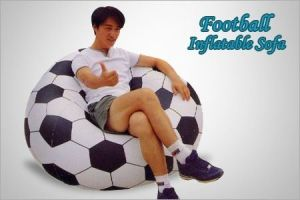 Football Shape Beanless Bag Inflatable Sofa Chair
