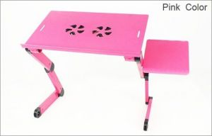 Tablet Stands - Heavy Duty Advance Foldable Laptop Table Etable-Pink