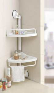 Shopper52 Portable Suction Corner Shelf For Kichen - 1907csfk