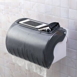Bathroom Accessories - Shopper52 Portable Suction  Waterproof Roll Paper Holder Plane - 1938WPRPHP