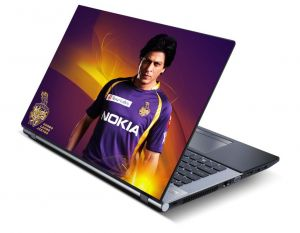 Kkr Crciket Sharukh Khan Laptop Notebook Skins High Quality Vinyl Skin - Lp0519