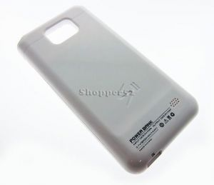 2000mah Slim External Battery Charger Case Cover Samsung I9100 Galaxy S2 White