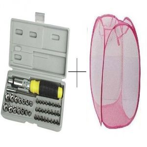 Buy Small Laundry Bag With Free 41 PCs Toolkit Screwdriver Set - 41pclyd