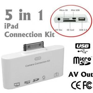 5 In 1 AV Camera Connection Kit , Apple Ipad Ipad2 2 SD Micro Mini Card Reader
