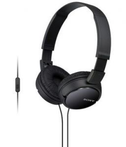Sony Mdr-zx110ap Zx Series Extra Bass Smartphone Headset With Mic - Black
