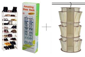Shoe racks - Buy 10 Layer Portable Amazing Shoe Rack With Hanging Shoe Rack - AMWHGSR