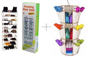 10 Layer Portable Amazing Shoe Rack With Smart Carousel Organiser - Amw
