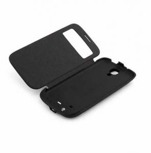 External 3200mah Battery Charger Back Case With Flip Cover For Samsung Gala