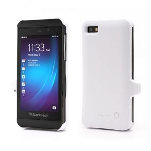 White 3300mah External Backup Battery For Blackberry Z10