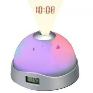 Round Lcd Projection Clock With Alarm
