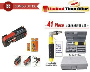 Special Combo Offer! 8 In 1 Multi Screwdriver Set 41 PCs Tool Set