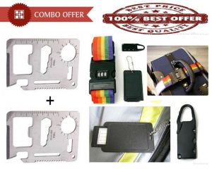 Special Combo Offer - Set Of 2 11 In 1 Tool Kit And Luggage Bag Belt